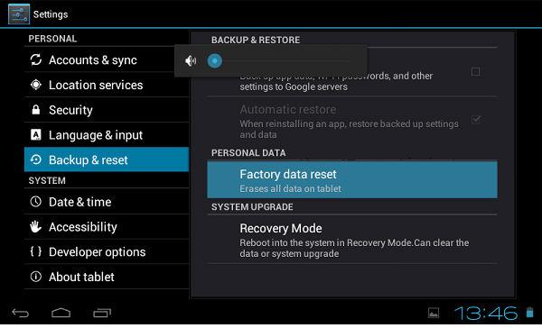 Hard Reset for Panasonic Toughpad FZ-A1