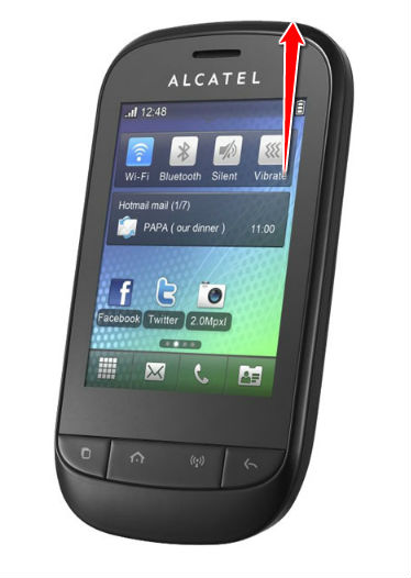 alcatel lume how to delete messages