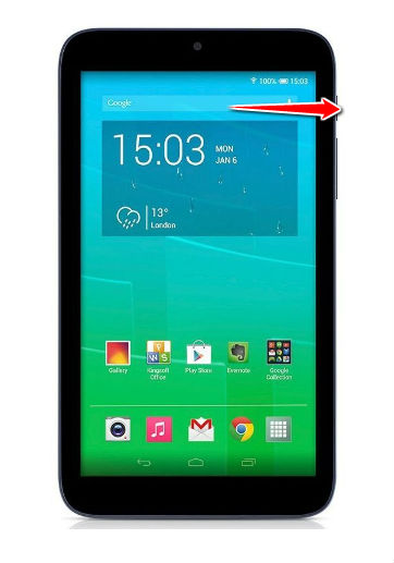 How to put Alcatel Pixi 3 (7) in Fastboot Mode