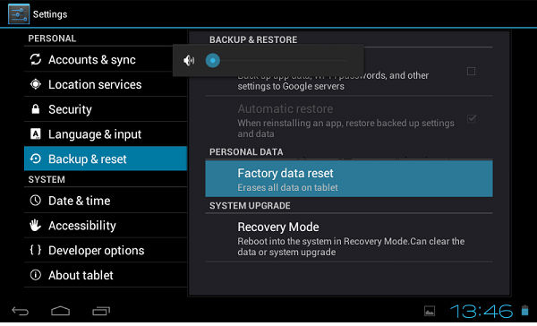 Hard Reset for Alcatel POP 7S