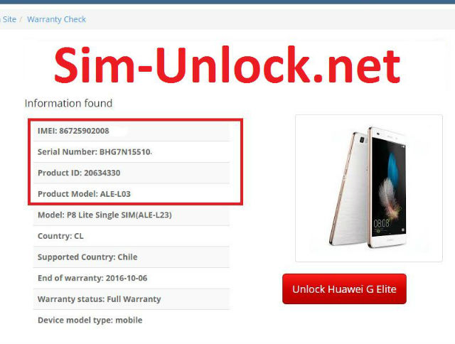 How to get password for unlocking Bootloader in Huawei Honor Holly 2 Plus only by IMEI