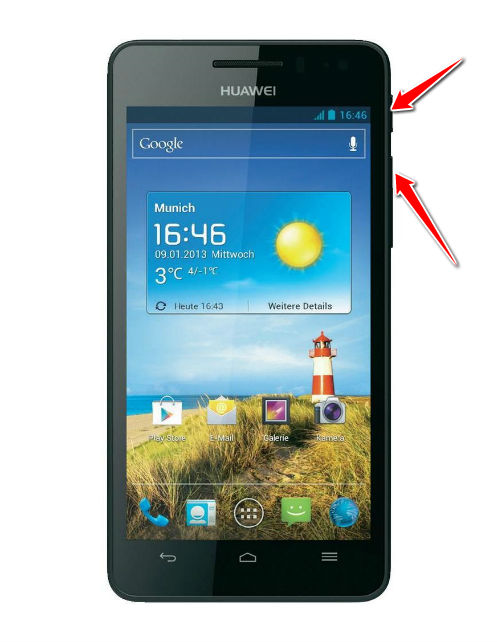 Hard Reset for Huawei Ascend G615