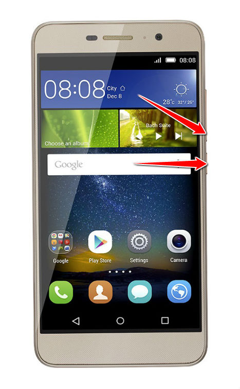 How to put Huawei Honor Holly 2 Plus in Fastboot Mode