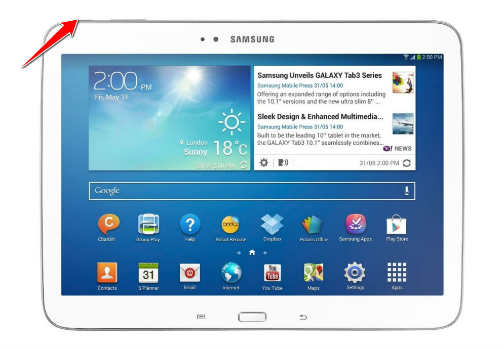 How to Soft Reset Samsung Galaxy Tab 3 Plus 10 1 P8220